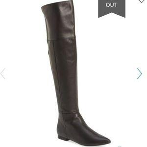 New Kristin Cavallari York Black OTK Boots 6.5